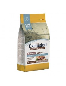 Exclusion Low Grain Adult Original Chicken, Pork & Salmon Medium 12Kg