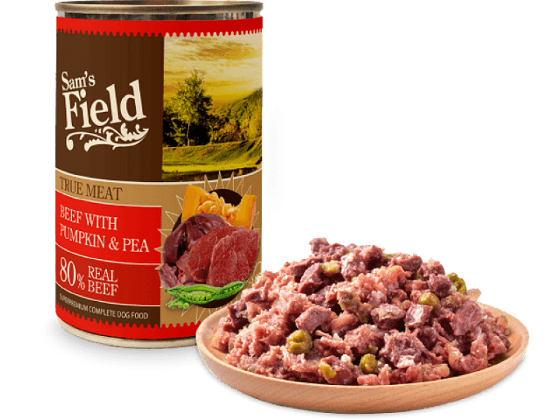 Sam's Field True Meat Beef with Pumkin & Pea 400gr